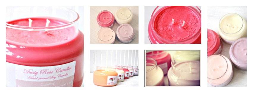 Dusty Rose Candles:Hand-poured 100% Soy Wax Candles & Melts